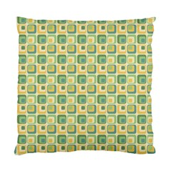 Square Green Yellow Standard Cushion Case (one Side) by Jojostore