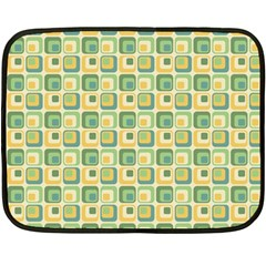 Square Green Yellow Double Sided Fleece Blanket (mini)  by Jojostore