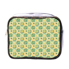 Square Green Yellow Mini Toiletries Bags by Jojostore