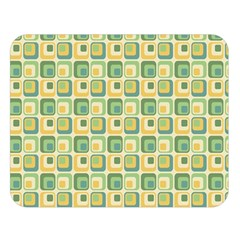 Square Green Yellow Double Sided Flano Blanket (large)  by Jojostore