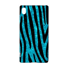 Skin4 Black Marble & Turquoise Marble Sony Xperia Z3+ Hardshell Case by trendistuff