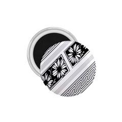 Stripe Seamless Flower 1 75  Magnets by Jojostore