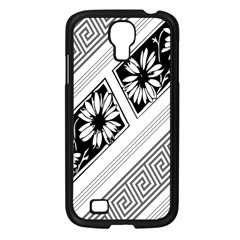 Stripe Seamless Flower Samsung Galaxy S4 I9500/ I9505 Case (black) by Jojostore