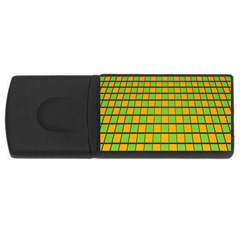 Tile Of Yellow And Green Usb Flash Drive Rectangular (4 Gb)  by Jojostore