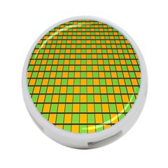 Tile Of Yellow And Green 4 Port Usb Hub (two Sides)  by Jojostore