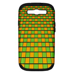 Tile Of Yellow And Green Samsung Galaxy S Iii Hardshell Case (pc+silicone) by Jojostore
