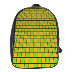 Tile Of Yellow And Green School Bags (xl)  by Jojostore