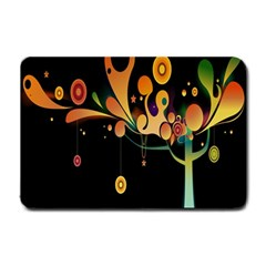 Tree Circle Orange Black Small Doormat  by Jojostore