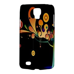 Tree Circle Orange Black Galaxy S4 Active by Jojostore