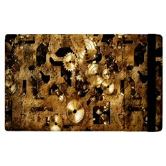 Steampunk Grunge Gold Cogs Apple Ipad 3/4 Flip Case by Jojostore