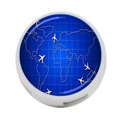 Unique Air Travel World Map Blue Sky 4 Port Usb Hub (one Side) by Jojostore