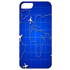 Unique Air Travel World Map Blue Sky Apple Iphone 5 Classic Hardshell Case by Jojostore