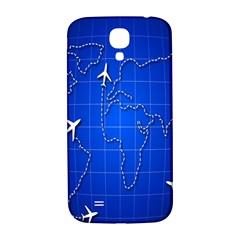 Unique Air Travel World Map Blue Sky Samsung Galaxy S4 I9500/i9505  Hardshell Back Case by Jojostore