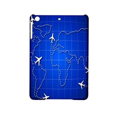 Unique Air Travel World Map Blue Sky Ipad Mini 2 Hardshell Cases by Jojostore