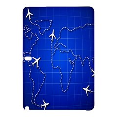 Unique Air Travel World Map Blue Sky Samsung Galaxy Tab Pro 10 1 Hardshell Case by Jojostore