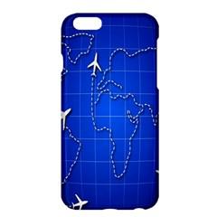 Unique Air Travel World Map Blue Sky Apple Iphone 6 Plus/6s Plus Hardshell Case by Jojostore