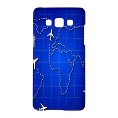 Unique Air Travel World Map Blue Sky Samsung Galaxy A5 Hardshell Case  by Jojostore