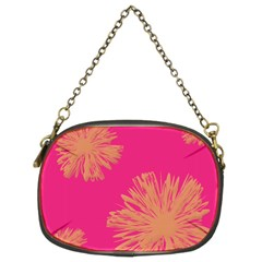 Yellow Flowers On Pink Background Pink Chain Purses (two Sides)  by Jojostore