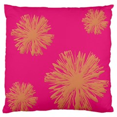 Yellow Flowers On Pink Background Pink Standard Flano Cushion Case (one Side)