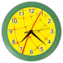 Yellow Redmesh Color Wall Clocks by Jojostore