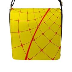 Yellow Redmesh Flap Messenger Bag (l)  by Jojostore