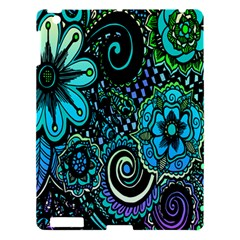 Sunset Floral Flower Green Apple Ipad 3/4 Hardshell Case by Jojostore
