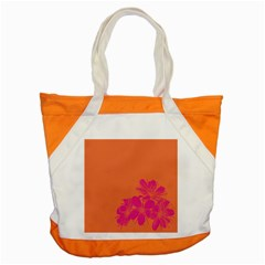Flower Orange Pink Accent Tote Bag by Jojostore