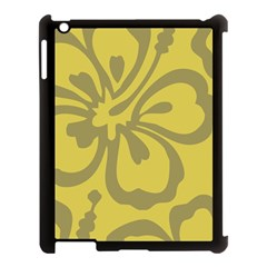 Flower Gray Yellow Apple Ipad 3/4 Case (black) by Jojostore