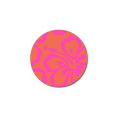 Flower Pink Orange Golf Ball Marker by Jojostore