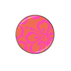 Flower Pink Orange Hat Clip Ball Marker (4 Pack) by Jojostore