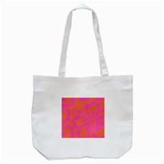 Flower Pink Orange Tote Bag (white) by Jojostore