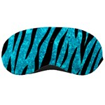 SKIN3 BLACK MARBLE & TURQUOISE MARBLE (R) Sleeping Mask Front