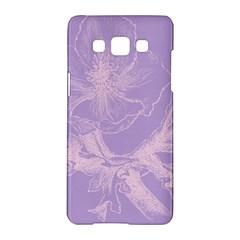 Flower Purple Gray Samsung Galaxy A5 Hardshell Case  by Jojostore