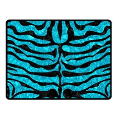 Skin2 Black Marble & Turquoise Marble (r) Fleece Blanket (small) by trendistuff