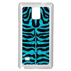 Skin2 Black Marble & Turquoise Marble Samsung Galaxy Note 4 Case (white) by trendistuff
