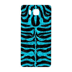 Skin2 Black Marble & Turquoise Marble Samsung Galaxy Alpha Hardshell Back Case by trendistuff