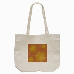 Flower Yellow Brown Tote Bag (cream) by Jojostore