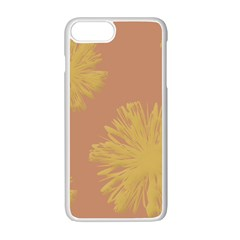 Flower Yellow Brown Apple Iphone 7 Plus White Seamless Case by Jojostore