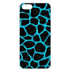 Skin1 Black Marble & Turquoise Marble (r) Apple Iphone 5 Seamless Case (white) by trendistuff