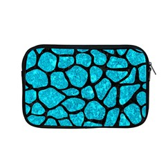 Skin1 Black Marble & Turquoise Marble Apple Macbook Pro 13  Zipper Case