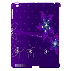 Flowers Purple Apple Ipad 3/4 Hardshell Case (compatible With Smart Cover) by Jojostore