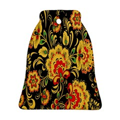 Flower Yellow Green Red Bell Ornament (2 Sides) by Jojostore