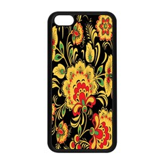 Flower Yellow Green Red Apple Iphone 5c Seamless Case (black) by Jojostore