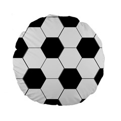 Foolball Ball Sport Soccer Standard 15  Premium Round Cushions by Jojostore