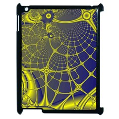 Futuristic Looking Fractal Graphic A Mesh Of Yellow And Blue Rounded Bars Apple Ipad 2 Case (black) by Jojostore