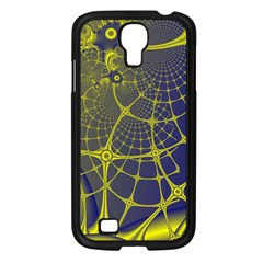 Futuristic Looking Fractal Graphic A Mesh Of Yellow And Blue Rounded Bars Samsung Galaxy S4 I9500/ I9505 Case (black) by Jojostore