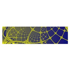 Futuristic Looking Fractal Graphic A Mesh Of Yellow And Blue Rounded Bars Satin Scarf (oblong) by Jojostore