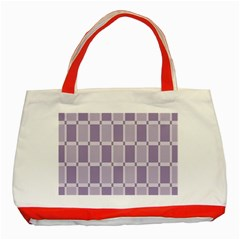 Gray Purple Classic Tote Bag (red) by Jojostore