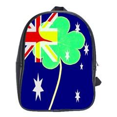Irish Australian Australia Ireland Shamrock Funny St Patrick Flag School Bags(large)  by yoursparklingshop