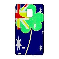 Irish Australian Australia Ireland Shamrock Funny St Patrick Flag Galaxy Note Edge by yoursparklingshop